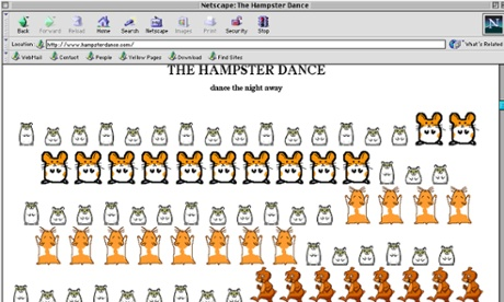 Screen-grab of www.hampsterdance.com, one of the 25 things you may have forgotten about the internet.