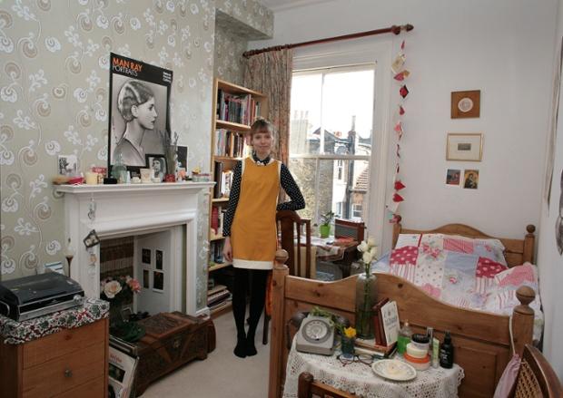 Dorothy Dunn in her bedroom in London.