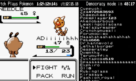A battle in Pokémon Crystal.