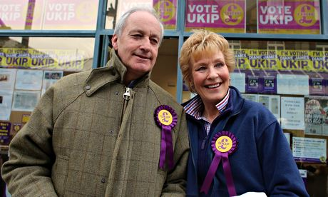 Neil and Christine Hamilton campaigning for Ukip