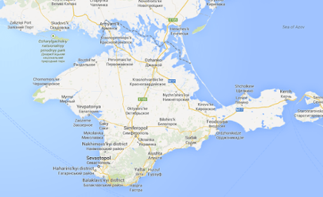 A map of Crimea on google.com.
