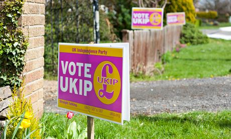 Ukip support placards in Ramsey, Cambridgeshire