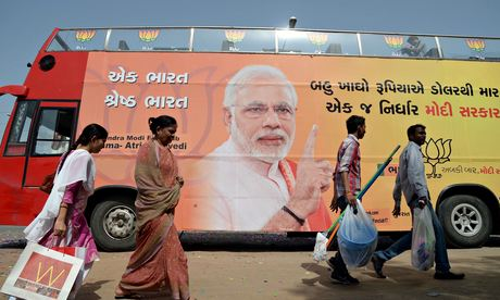 'Voters got used to the idea [of Narendra Modi as leader] through repetition of images and slogans.'