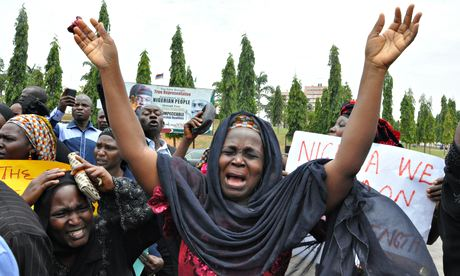 Kidnapped schoolgirls protest