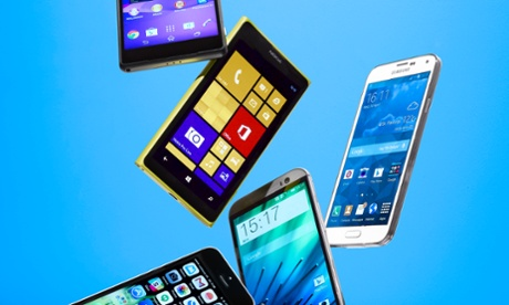 a gaggle of smartphones