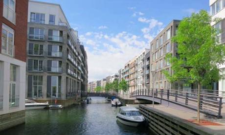 The former docks area of Sluseholmen in Copenhagen uses a canal system as a natural defence against crime.