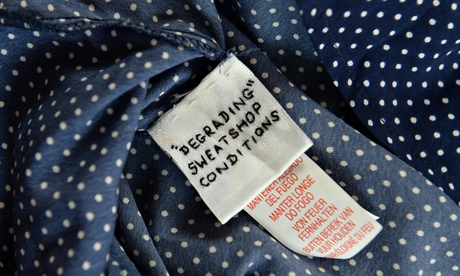 Primark label with a message in Swansea