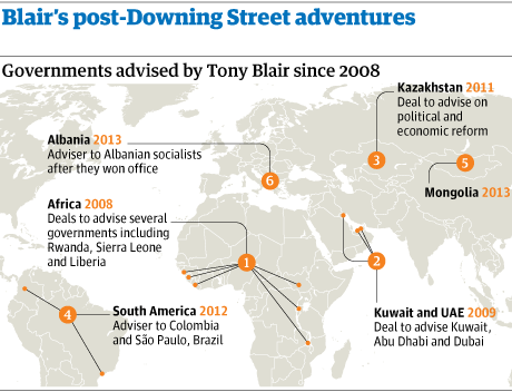 Tony Blair post-Downing Street