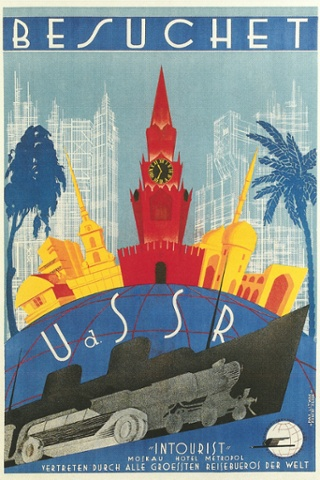 This Besuchet travel poster from the 1930s is written in German, and advertises the Hotel Metropol in Moscow. Photograph: Found Image Press/Corbis