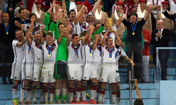 Germany lift the World Cup.