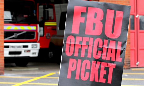 Firefighters to strike for eight days over pensions row