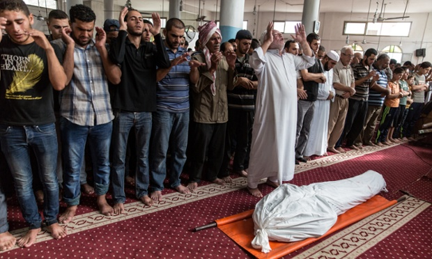 The funeral of Faraj Aiesh