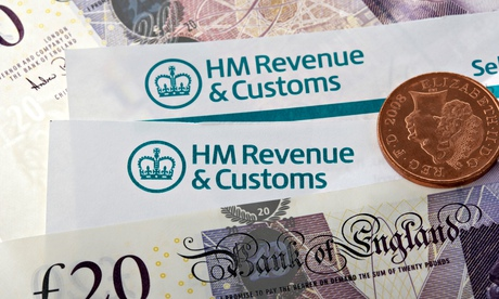 hmrc tax return letters with logos and cash