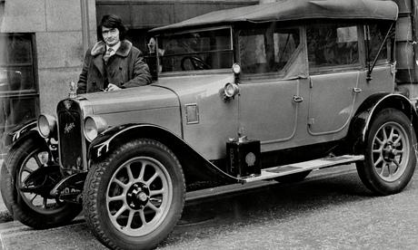 Val Biro with his 1929 Austin.