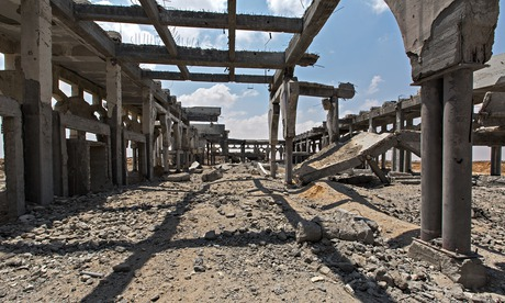 The ruins of the Rafah airport
