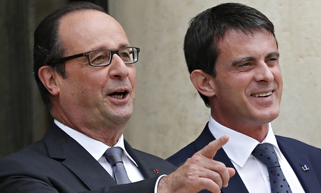 François Hollande and Manuel Valls