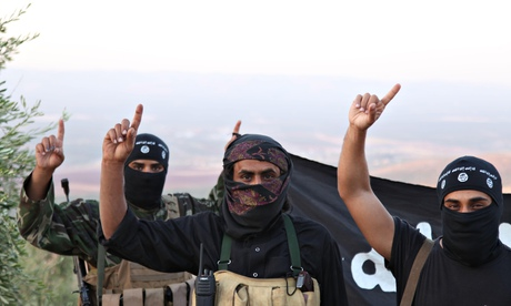 ISIS rebel militant soldiers on the frontline