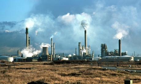 Stanlow oil refinery Ellesmere Port Cheshire UK