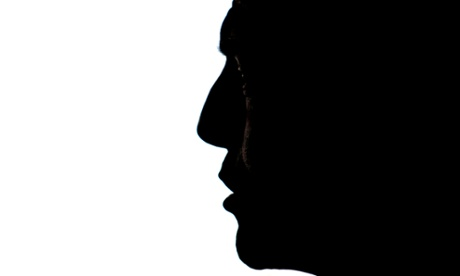 Tony Abbott in silhouette