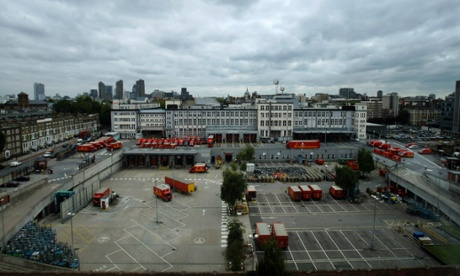 The Royal Mail Group has proposed a fortress-like scheme of 700 flats on its Mount Pleasant site.