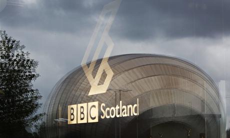 BBC Scotland's studio complex at Pacific Quay, Glasgow, Scotland.