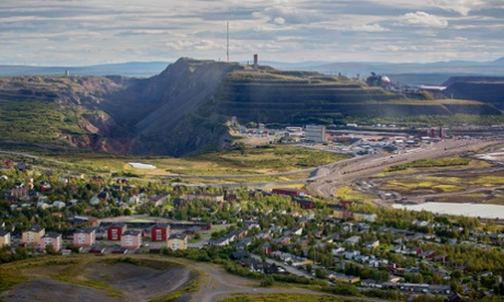 The iron ore mine, operated by LKAB, Sweden's state-owned mining company in Kiruna, Sweden, on August 21, 2013. Swedes living in the Arctic town of Kiruna are packing up their belongings before their homes are bulldozed to make way for iron ore mining driven by Chinese demand.