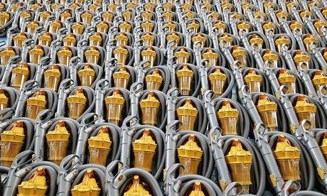 An army of Dyson vacuum cleaners