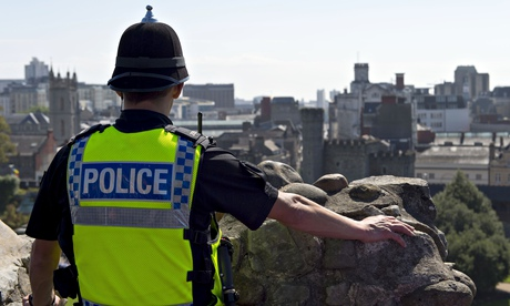 Police officer at Cardiff Castle