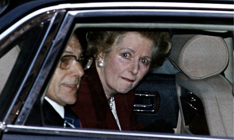 Margaret Thatcher leaving 10 Downing Street for the last time as prime minister.