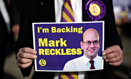 Ukip placard backing Mark Reckless