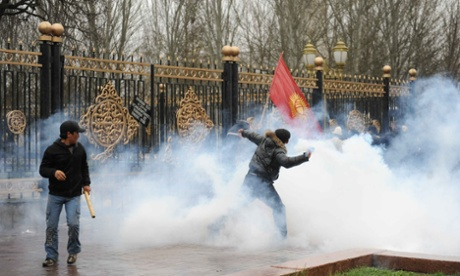 Anti-government protests that let to the resignation of former president Kurmanbek Bakiyev in 2010.