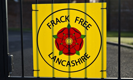 Anti-fracking sign on a gate in Little Plumpton, Lancashire.