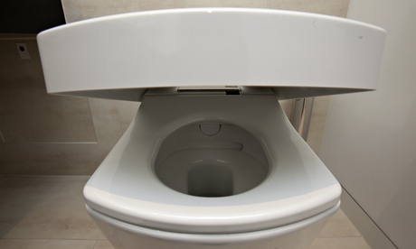 The lid goes up and down automatically on this Toto Neorest toilet.