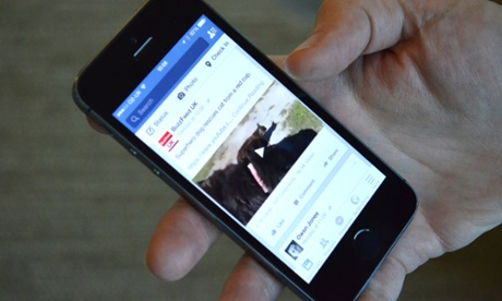 Facebook video playing on an iPhone 5S