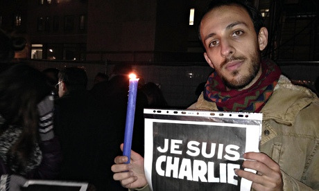 Italy, tribute to the victims of a shooting at the French magazine Charlie Hebdo