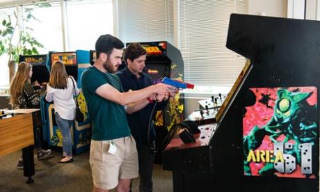 Arcade games at Google campus