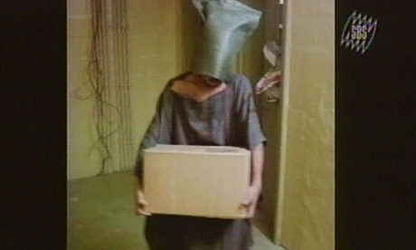 Images of prisoners at the Abu Ghraib prison in Baghdad in late 2003, obtained by the Special Broadcasting System in Australia.