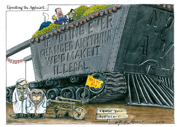 02.05.2011: Martin Rowson on the electoral reform vote
