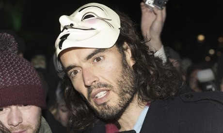 Russell Brand at Million Mask March