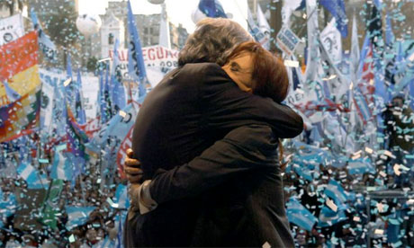 Nestor Kirchner, 2008, with his wife President Cristina Fernandez