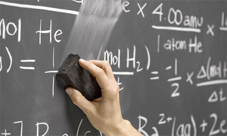 Mathematics teaching, blackboard