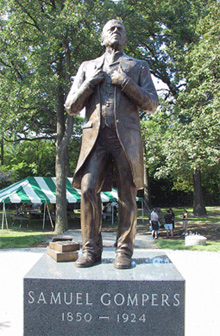 The Samuel Gompers memorial in Chicago, Illinois