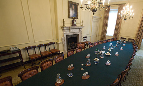 The Cabinet table on Downing Street 10