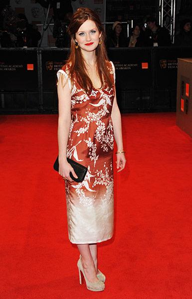 Bafta fashion : Bonnie Wright at the Baftas
