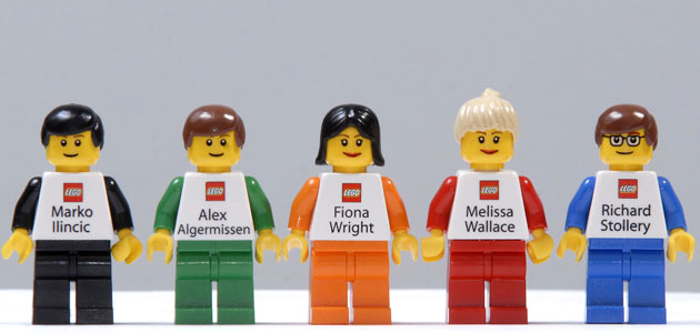 Lego Staff business cards