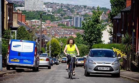 Wendy Melia, Cycling in Heeley