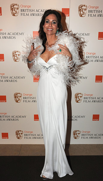 Baftas 2011: fashion: Minnie Driver at the Baftas