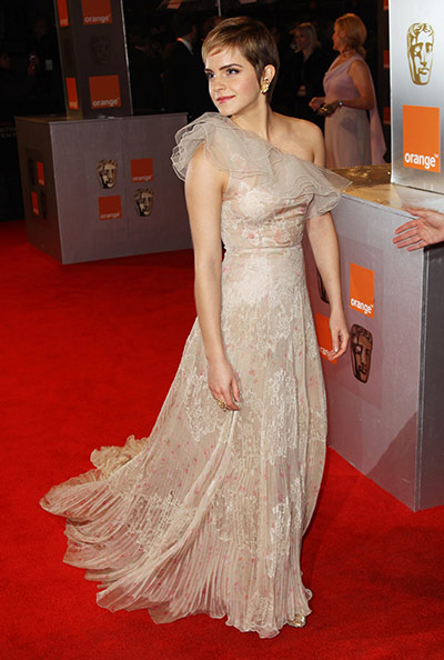 Baftas 2011: fashion: Emma Watson at the Baftas