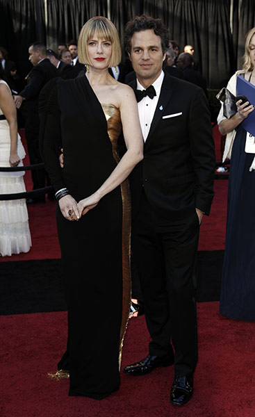 Oscars: Mark Ruffalo and wife Sunrise Coigney at the Oscars