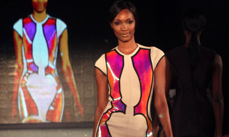 An outfit by La Quan Smith, Lagos fashion week